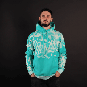 myForestBridge — Design • Rhombus Wear. Calligraphy Hoodie (Hand-painted) — 2018