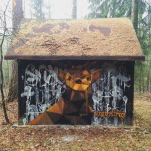 myForestBridge — Murals • Deer Prague, Graffiti Artwork • Prague, Czech republic — 2015